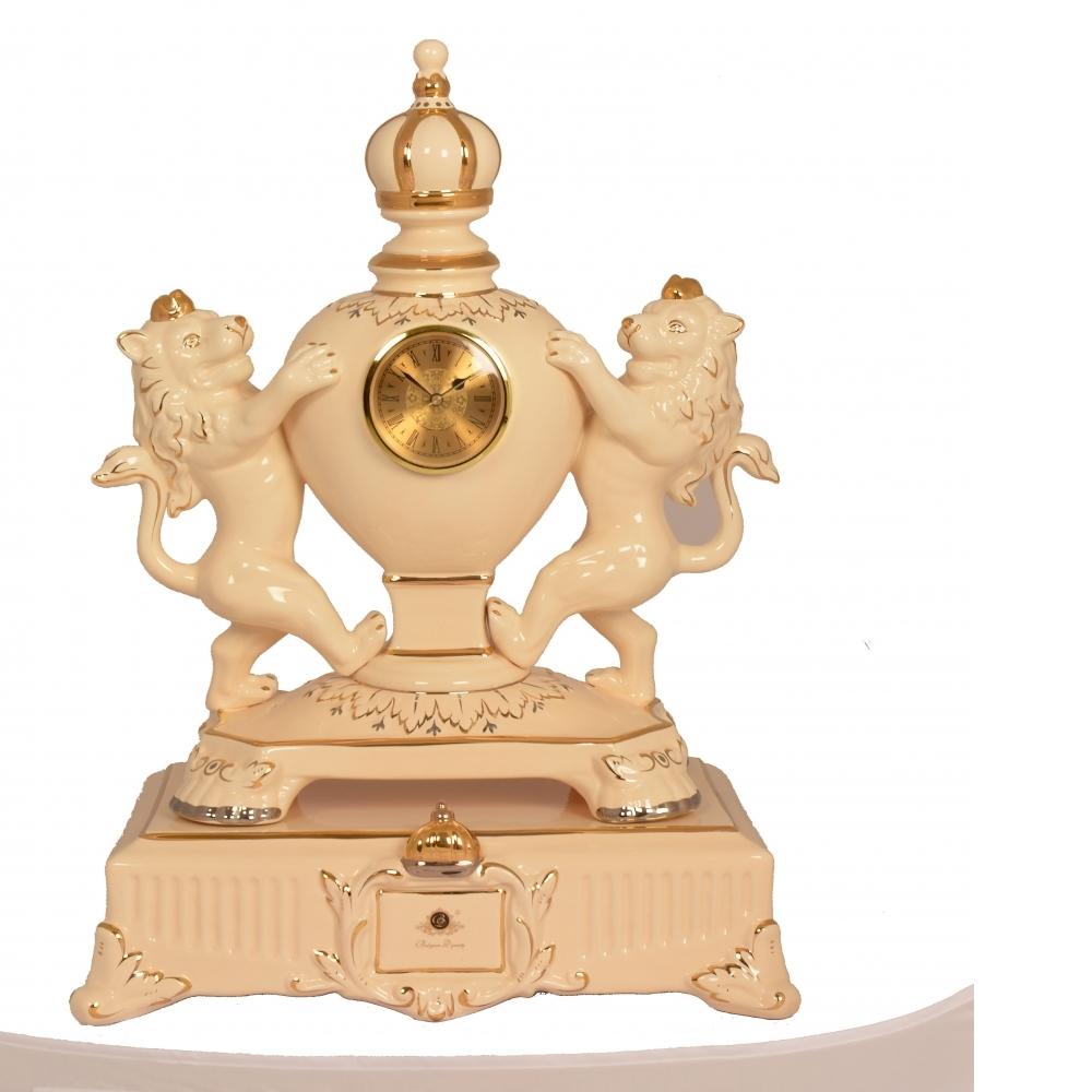 精品陶瓷-雙獅鐘