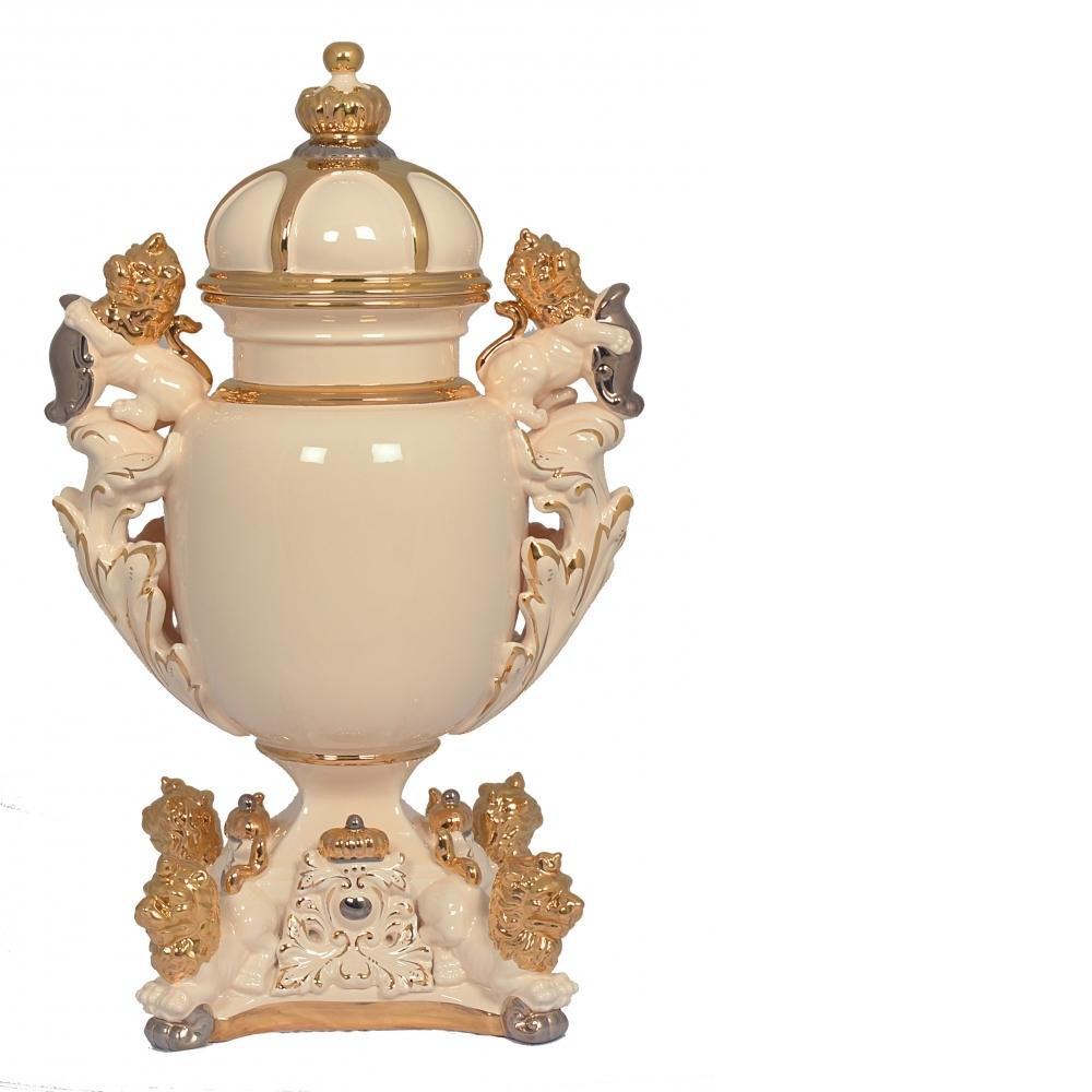 精品陶瓷-六頭獅