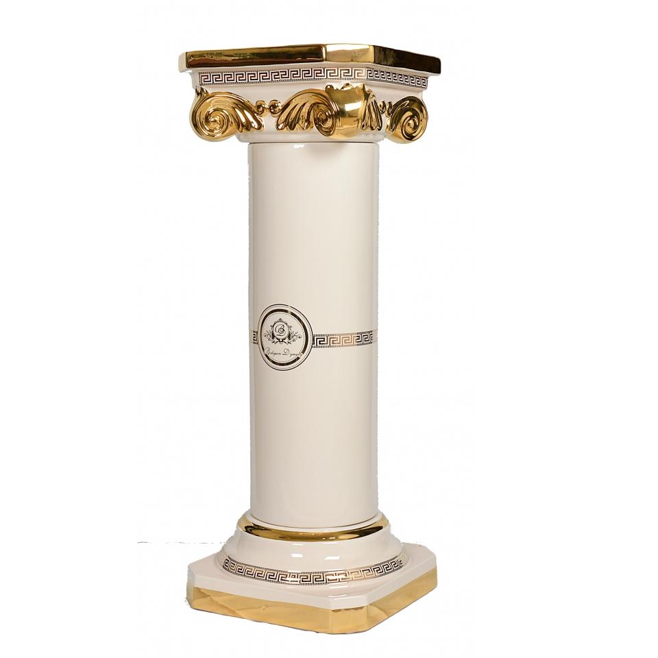 精品陶瓷-白琪羅馬柱