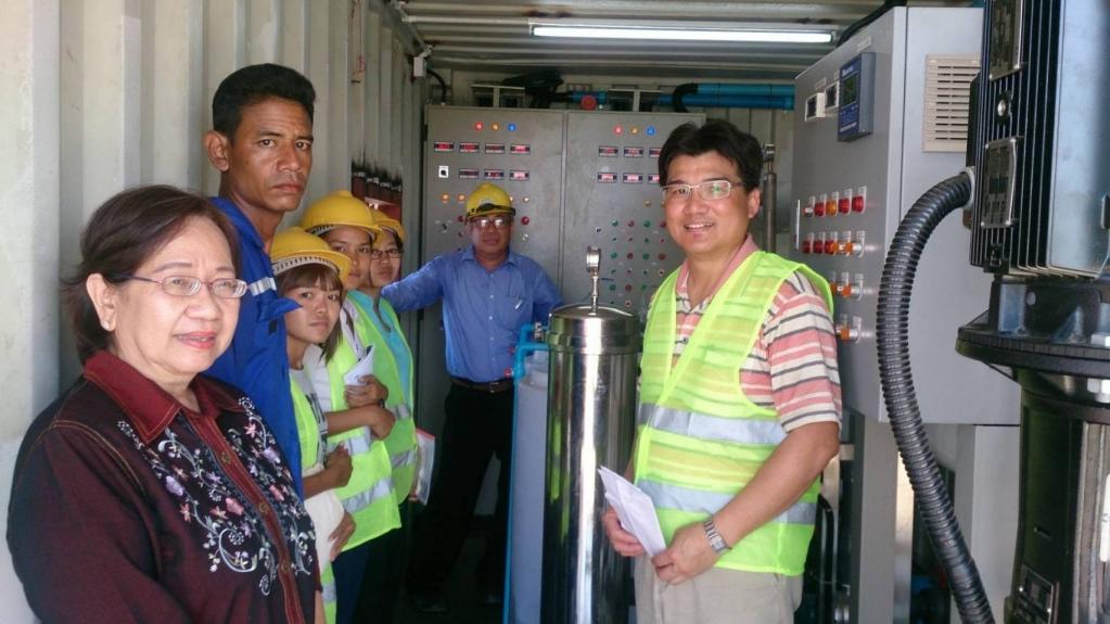 Desalination of seawater in Yangon, Myanmar