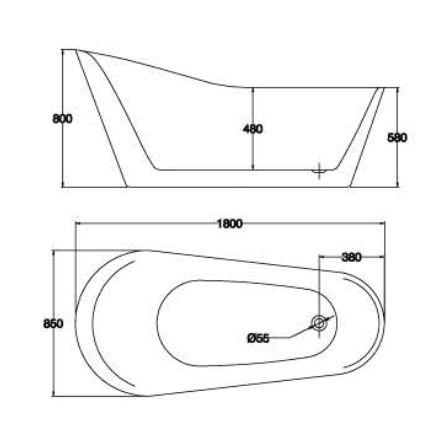 精品浴缸KQ-M183