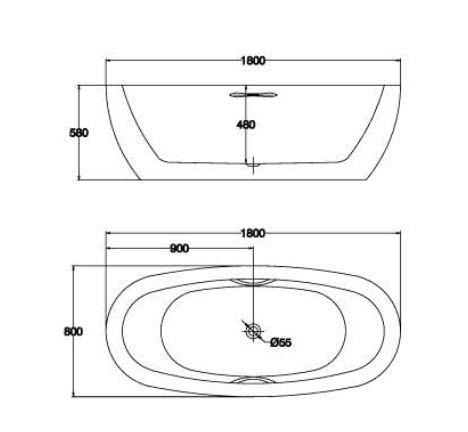 精品浴缸KQ-M051