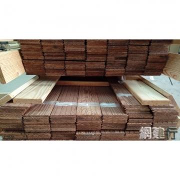 V型壁板碳化木