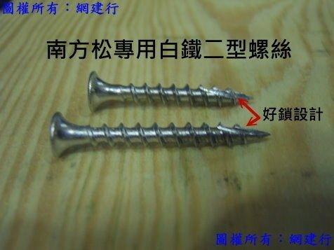 不鏽鋼好鎖入螺絲 割尾設計【2 1/2英吋-約6cm】