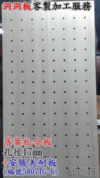 【洞洞板客製加工服務】 落葉松合板 + 安勝美耐板貼皮 孔徑17mm