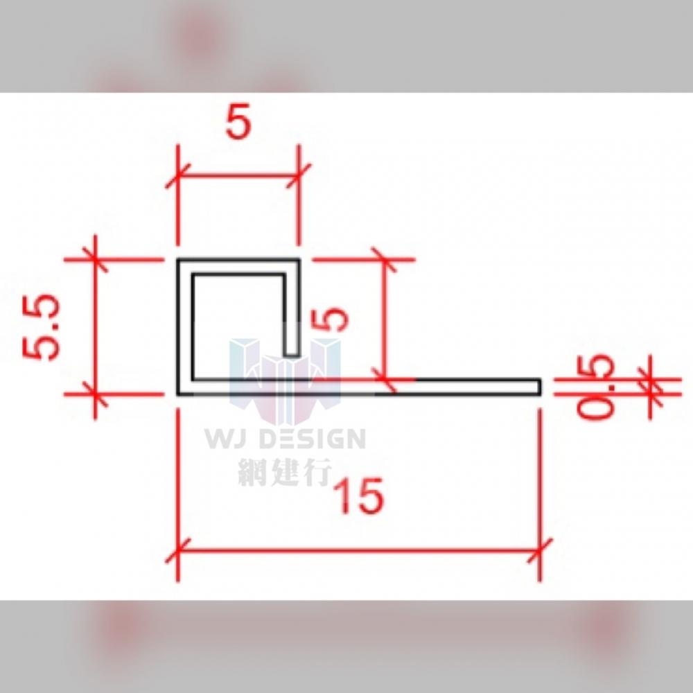 【不銹鋼304 磁磚收邊條 5*5mm 鏡面 拉絲面 4種顏