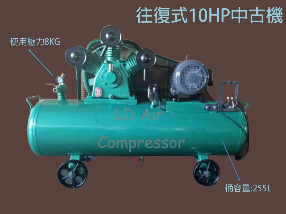 往復式10HP中古機