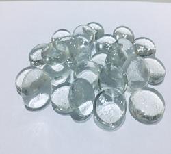 透明扁珠玻璃石(約1