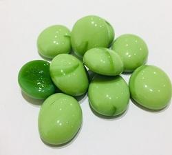 綠彩瓷扁珠玻璃石(約