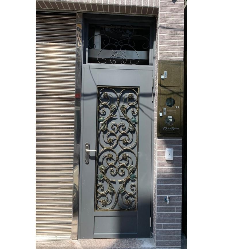 鍛造鐵門安裝-3