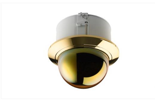 PTZ 球型 200 萬畫素 30 倍變焦天花板掛架,金色