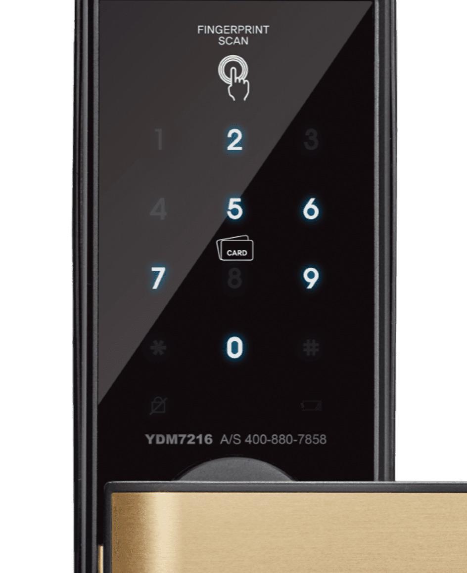 YDM 7216卡片指紋五合一電子鎖