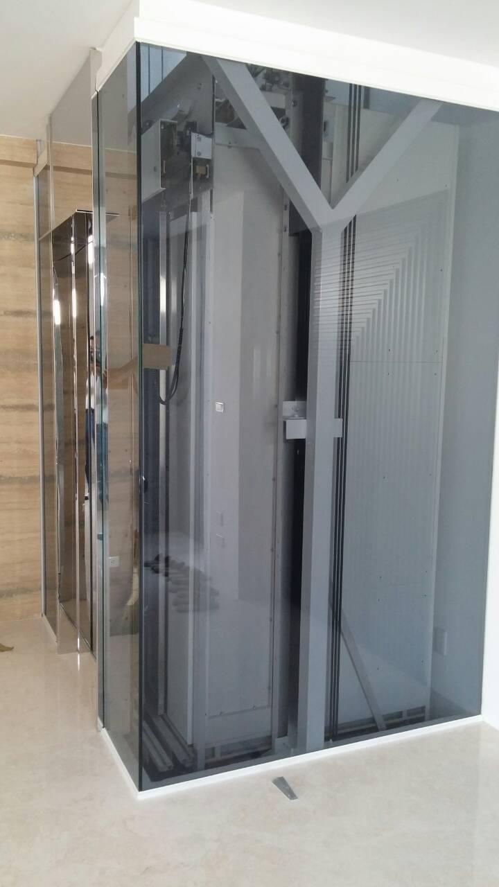 台中七期豪宅透明電梯