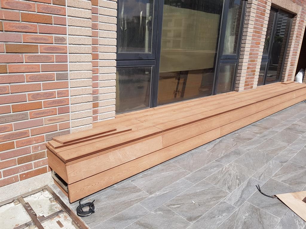 塑木置物座椅