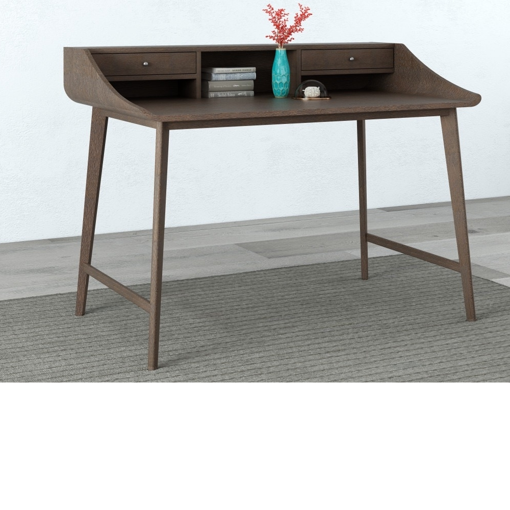 47-3/4in Dark Brown Writing Desk