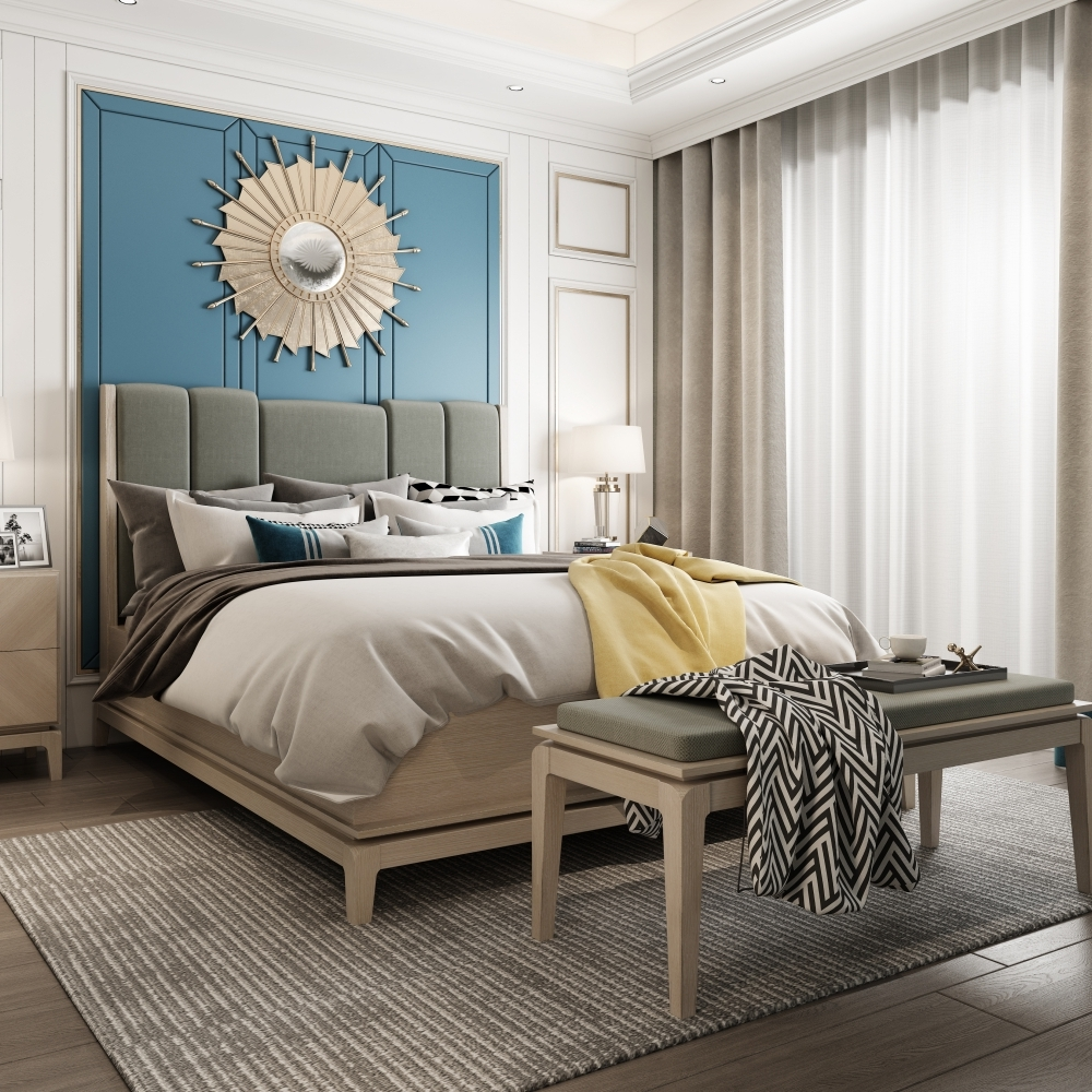 Master Bedroom with Gray Modern Style
