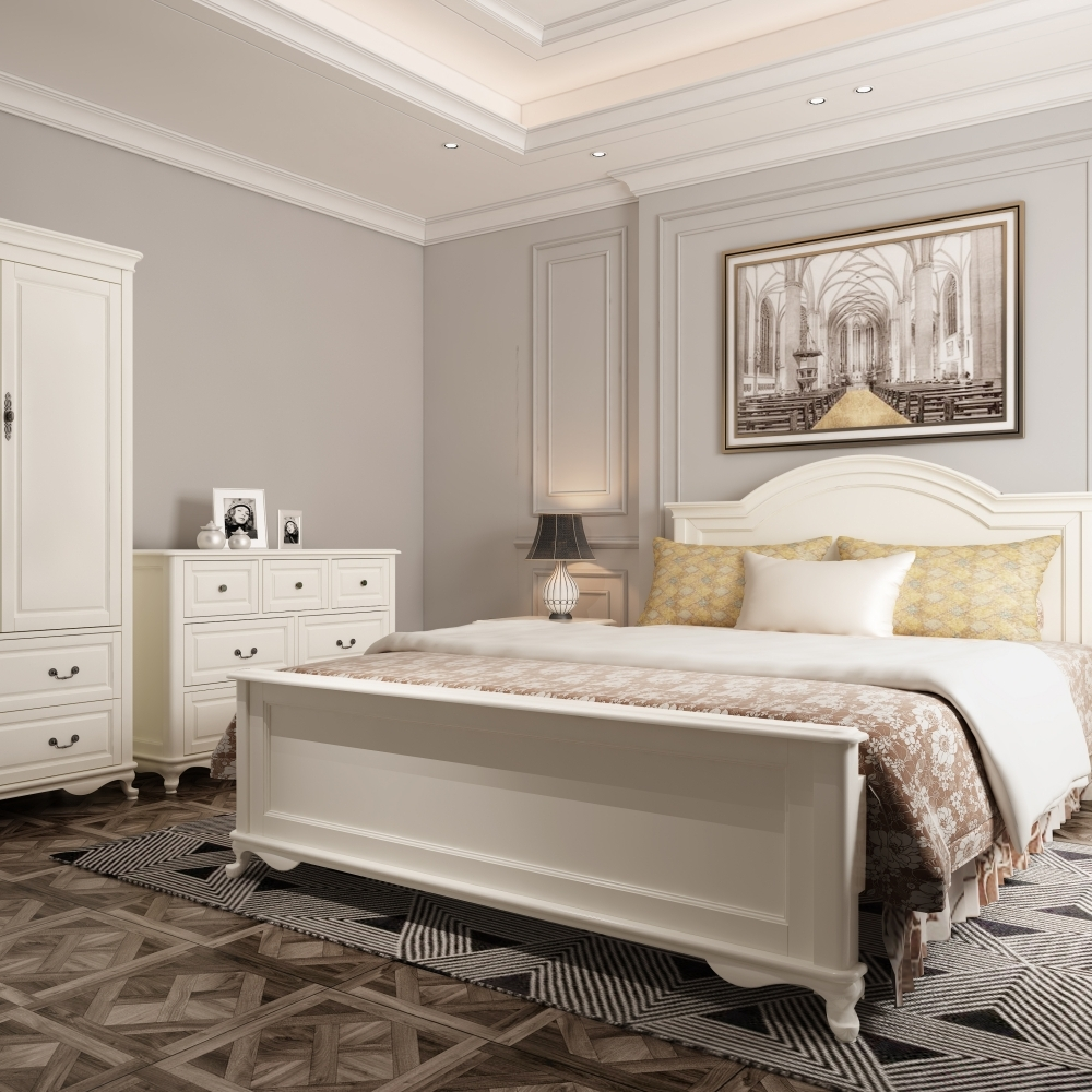 Master Bedroom with Benjamin Moore White