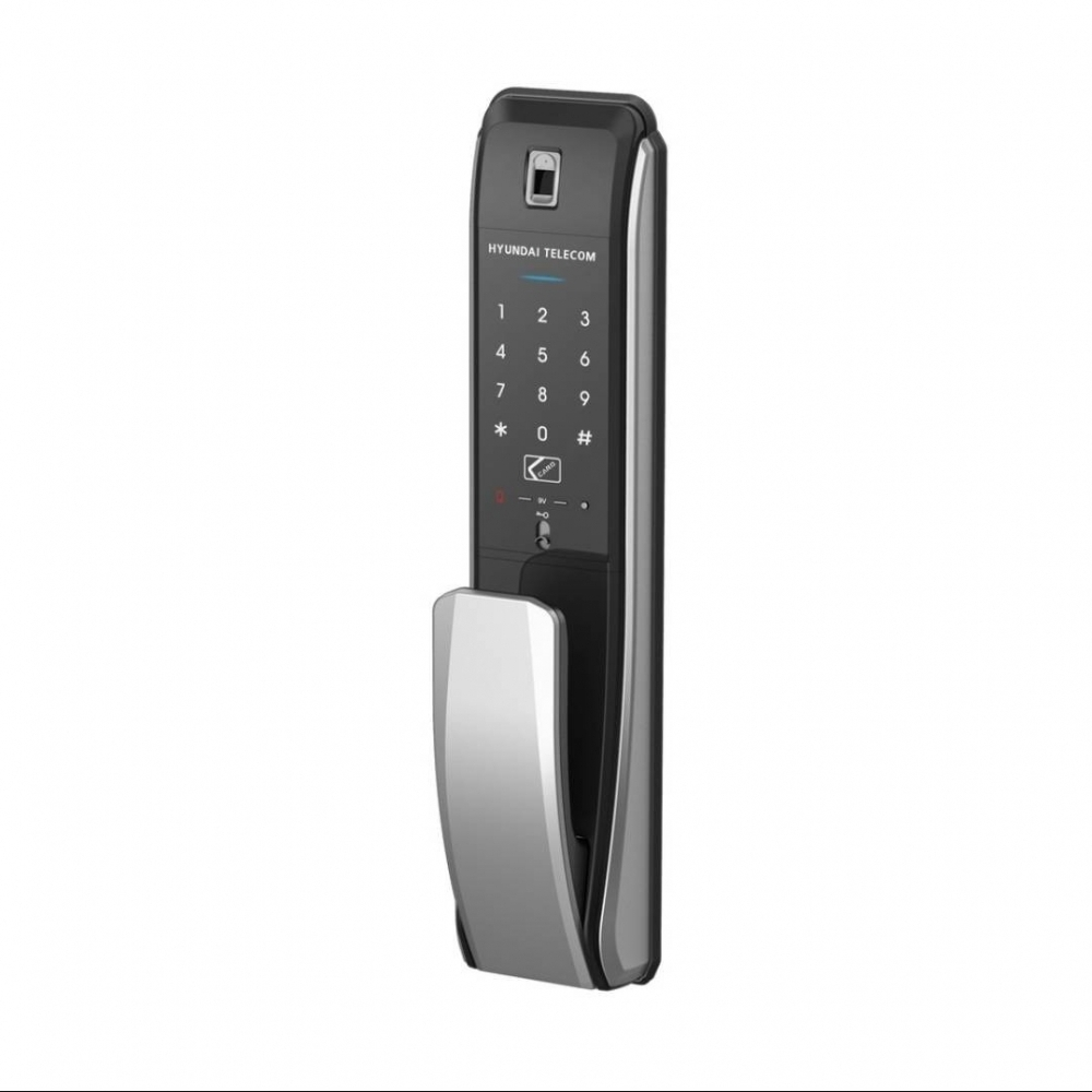 現代7090(4合1) 密碼卡片指紋鎖匙
