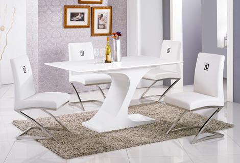 467-1亞聖5尺白色原石餐桌