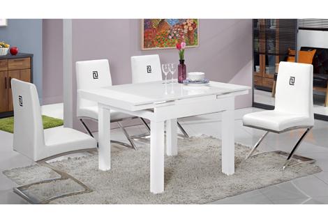 468-1天京白色原石方型摺桌