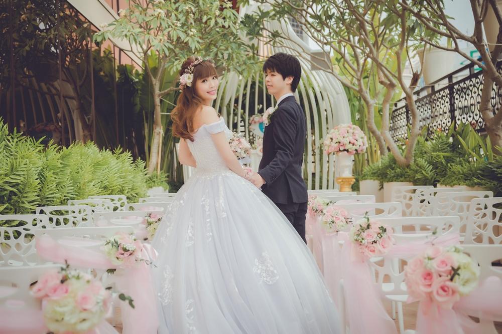 婚禮紀錄 台日訂婚+結婚午宴 (高雄 林皇宮)