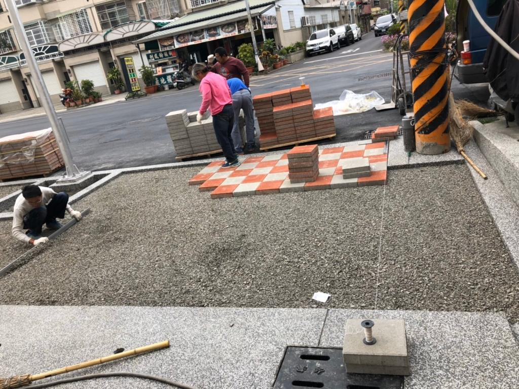 植草磚/步道磚鋪設工程-平板磚