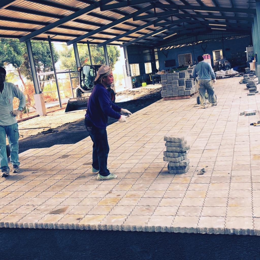 植草磚/步道磚鋪設工程-連鎖磚