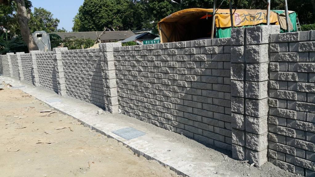 百歲磚/空心磚圍牆工程-象牙磚