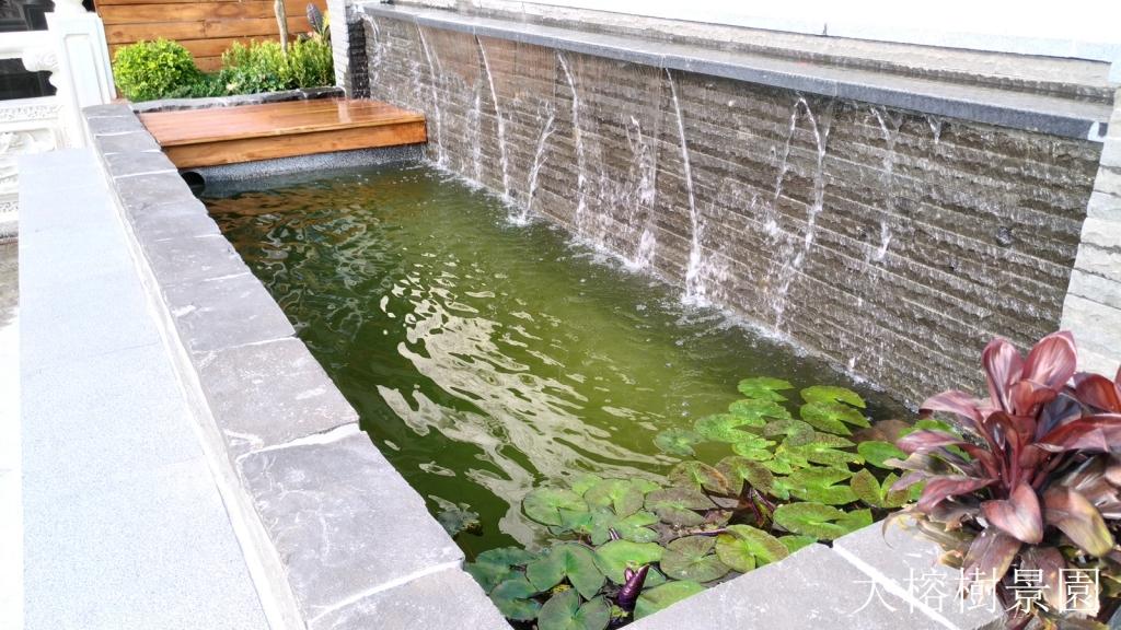 水池瀑布造景